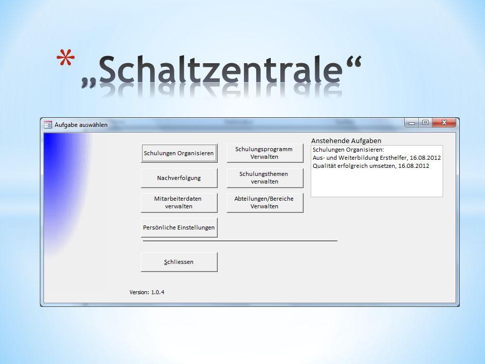 """""""Schaltzentrale"""
