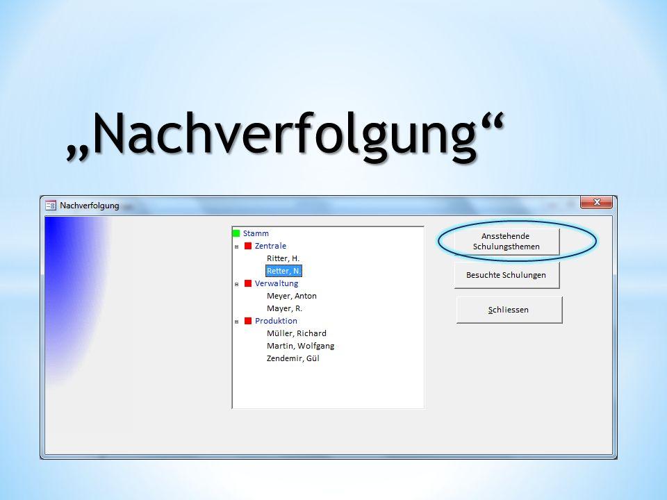 """""""Nachverfolgung"""