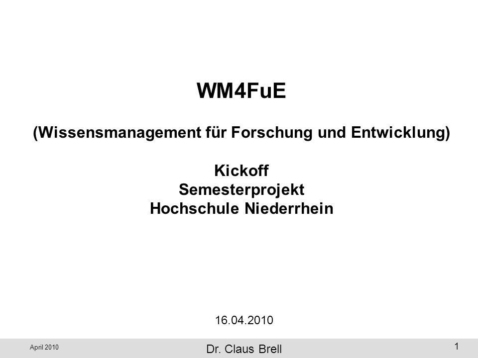WM4FuE (Wissensmanagement für Forschung und Entwicklung) Kickoff