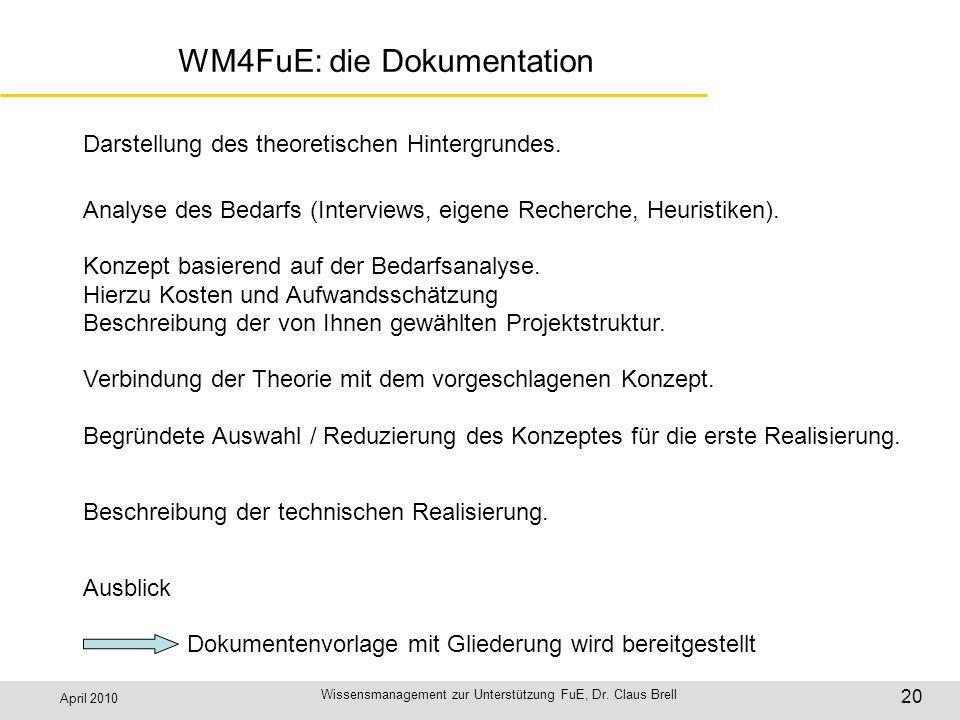 WM4FuE: die Dokumentation