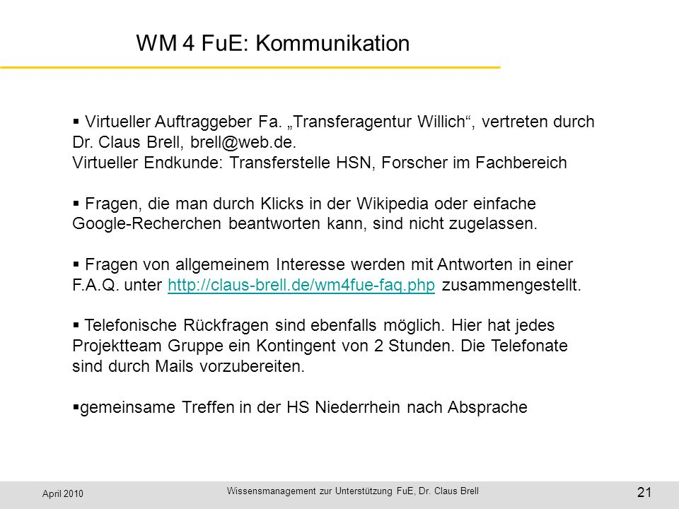 Wissensmanagement zur Unterstützung FuE, Dr. Claus Brell