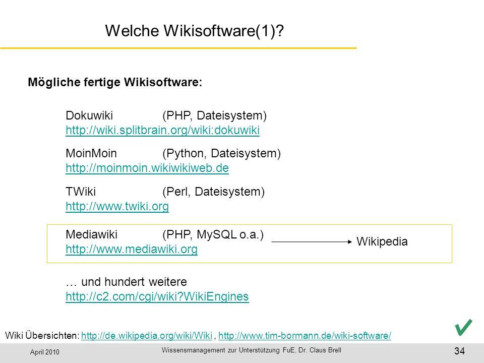 Welche Wikisoftware(1)