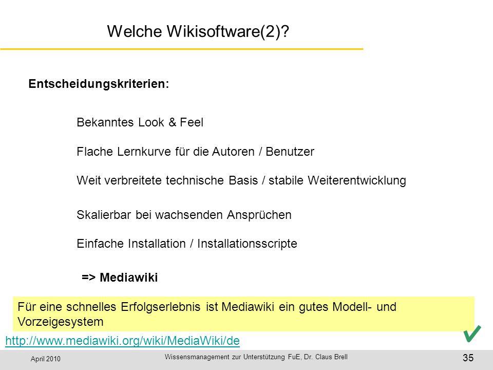 Welche Wikisoftware(2)