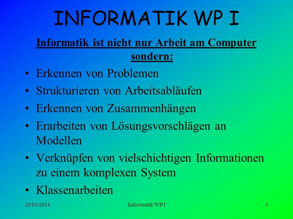 Informatik ist nicht nur Arbeit am Computer sondern: