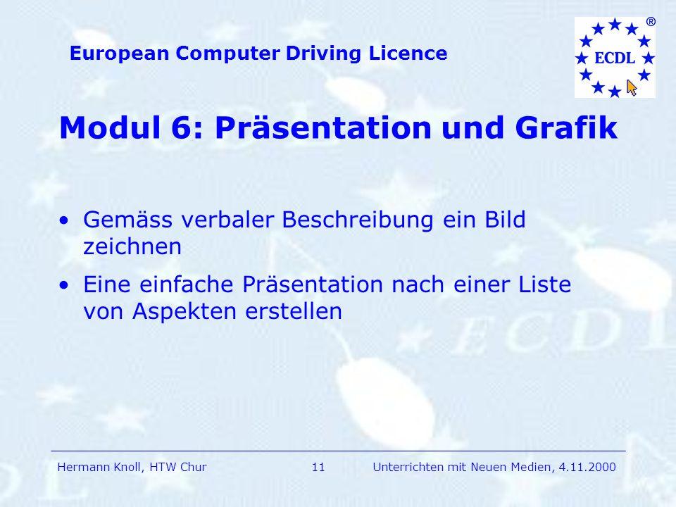 Modul 6: Präsentation und Grafik
