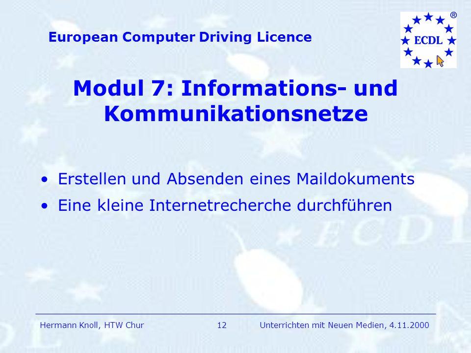 Modul 7: Informations- und Kommunikationsnetze