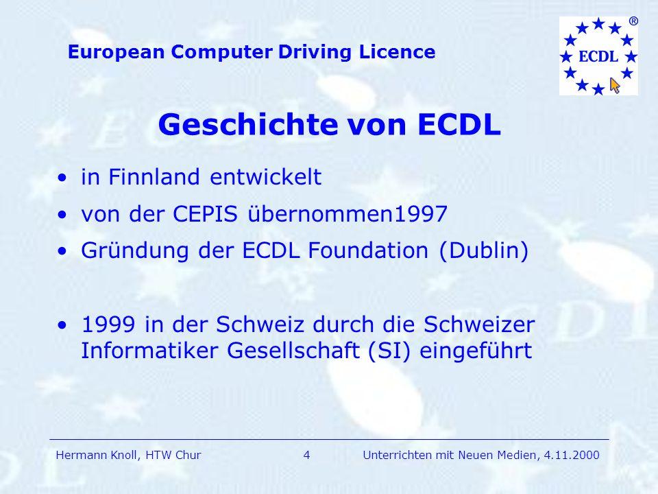 Geschichte von ECDL in Finnland entwickelt