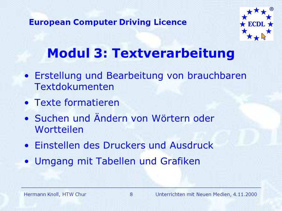 Modul 3: Textverarbeitung