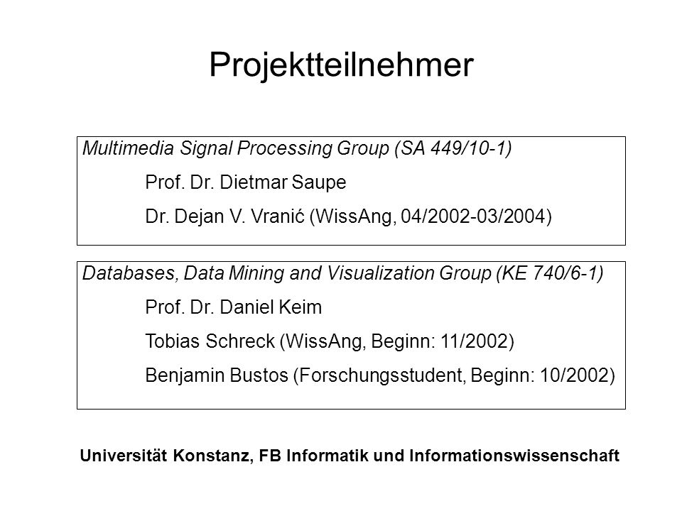 Universität Konstanz, FB Informatik und Informationswissenschaft