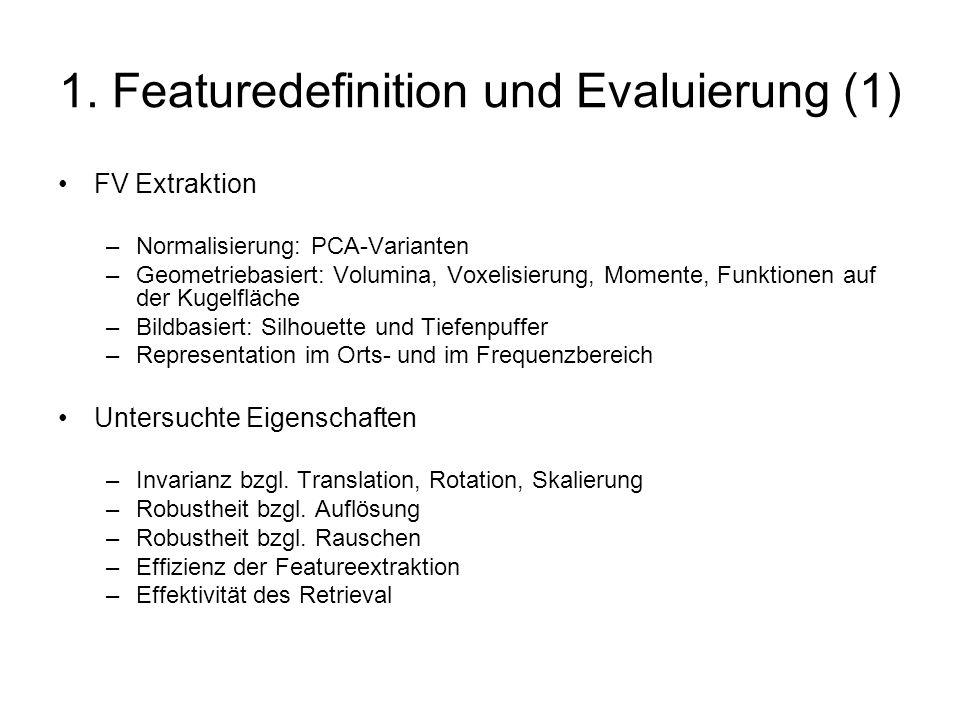 1. Featuredefinition und Evaluierung (1)