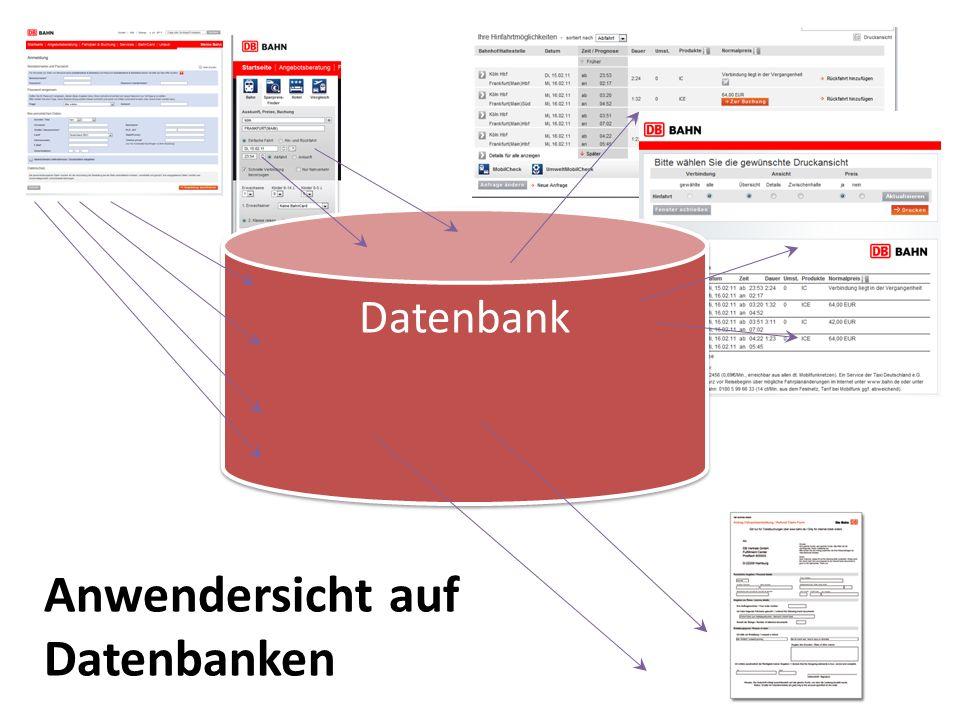 Anwendersicht auf Datenbanken
