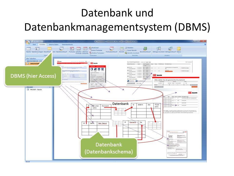 Datenbank und Datenbankmanagementsystem (DBMS)