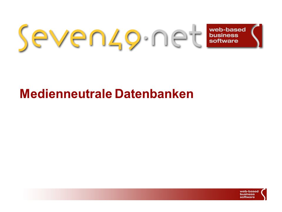 Medienneutrale Datenbanken