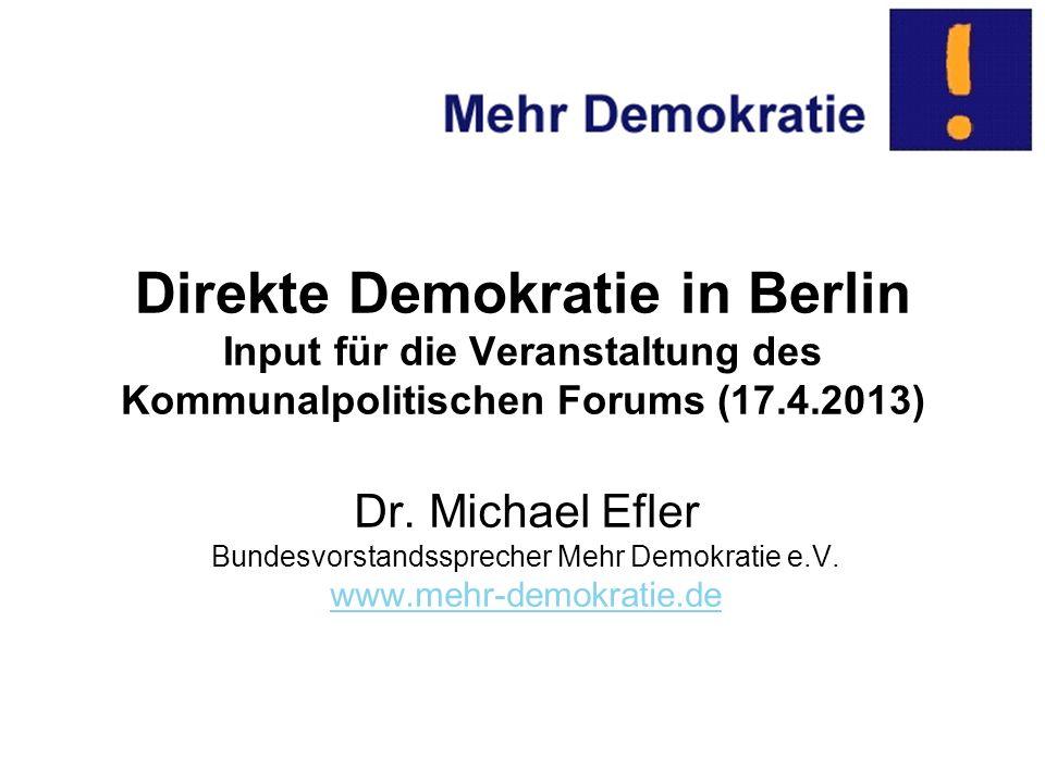 Bundesvorstandssprecher Mehr Demokratie e.V.