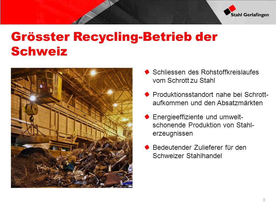 Grösster Recycling-Betrieb der Schweiz