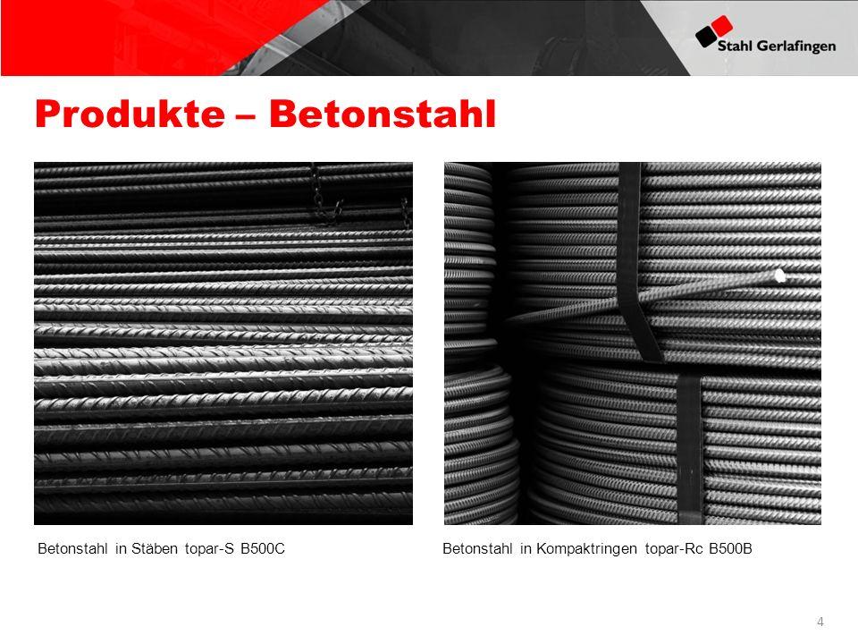 Produkte – Betonstahl Betonstahl in Stäben topar-S B500C