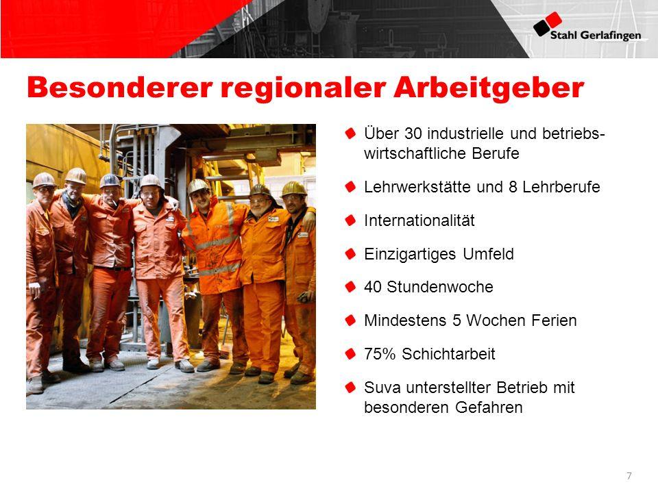 Besonderer regionaler Arbeitgeber