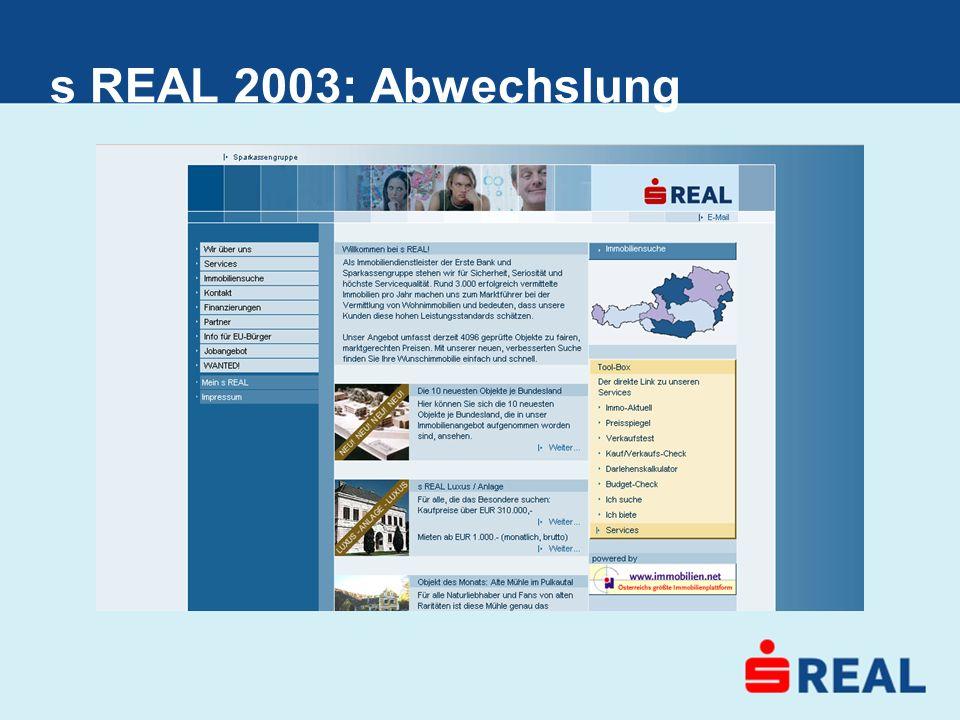 s REAL 2003: Abwechslung