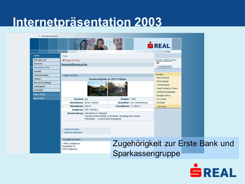Internetpräsentation 2003