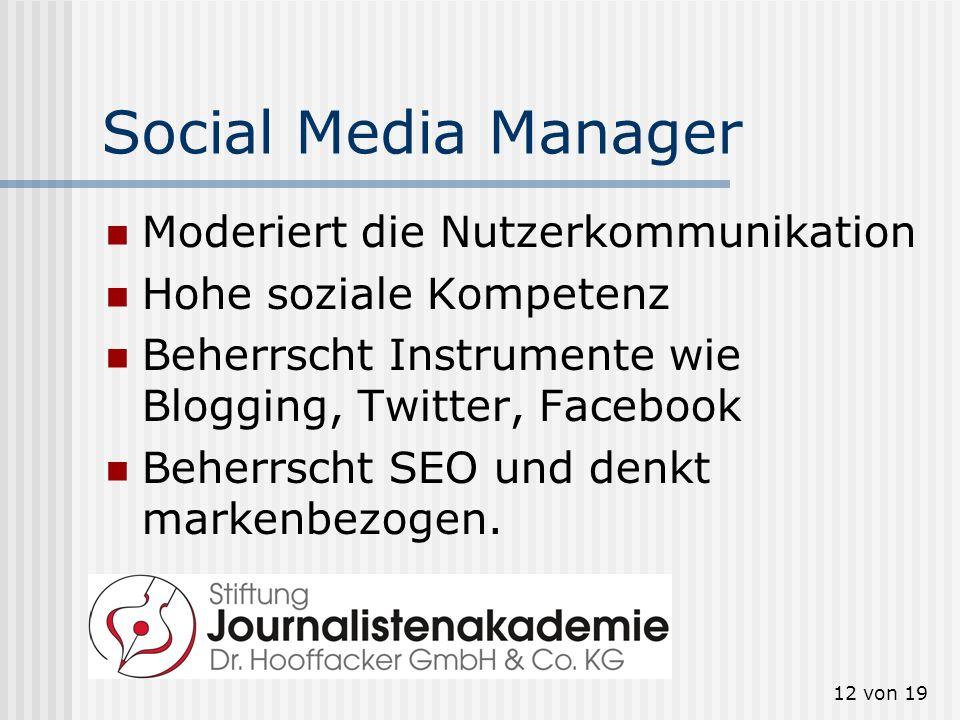 Social Media Manager Moderiert die Nutzerkommunikation