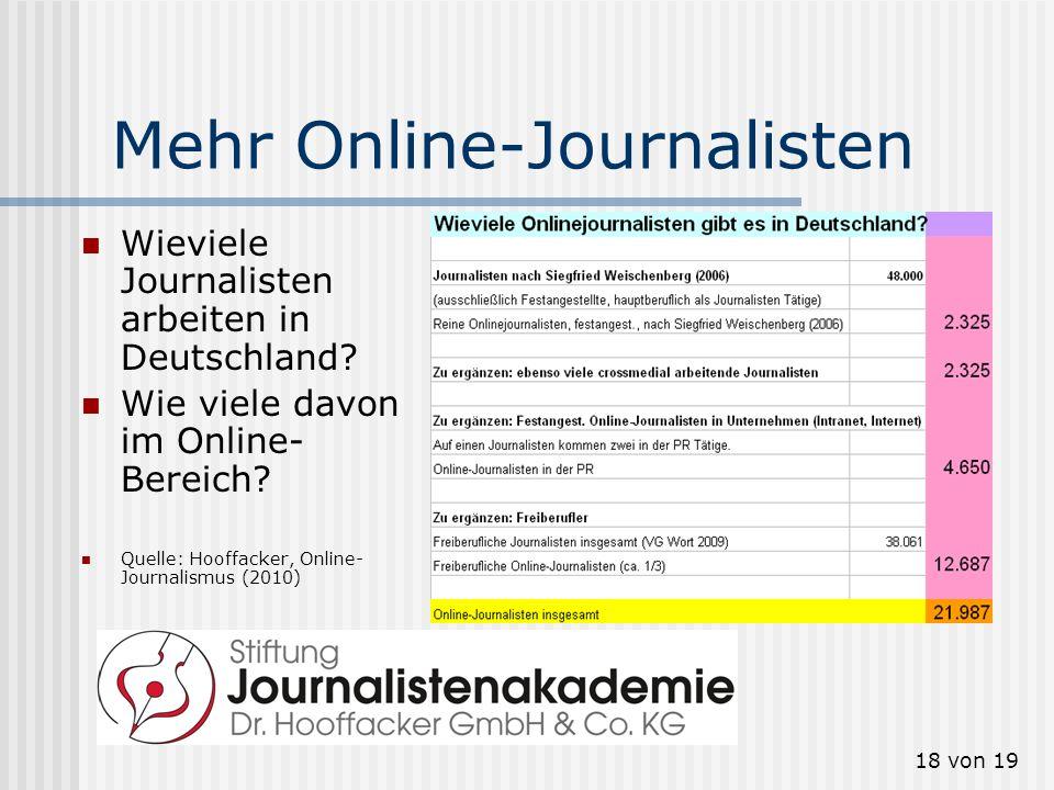 Mehr Online-Journalisten