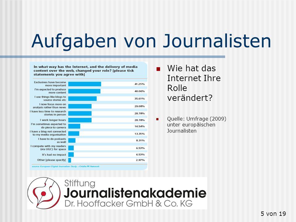 Aufgaben von Journalisten
