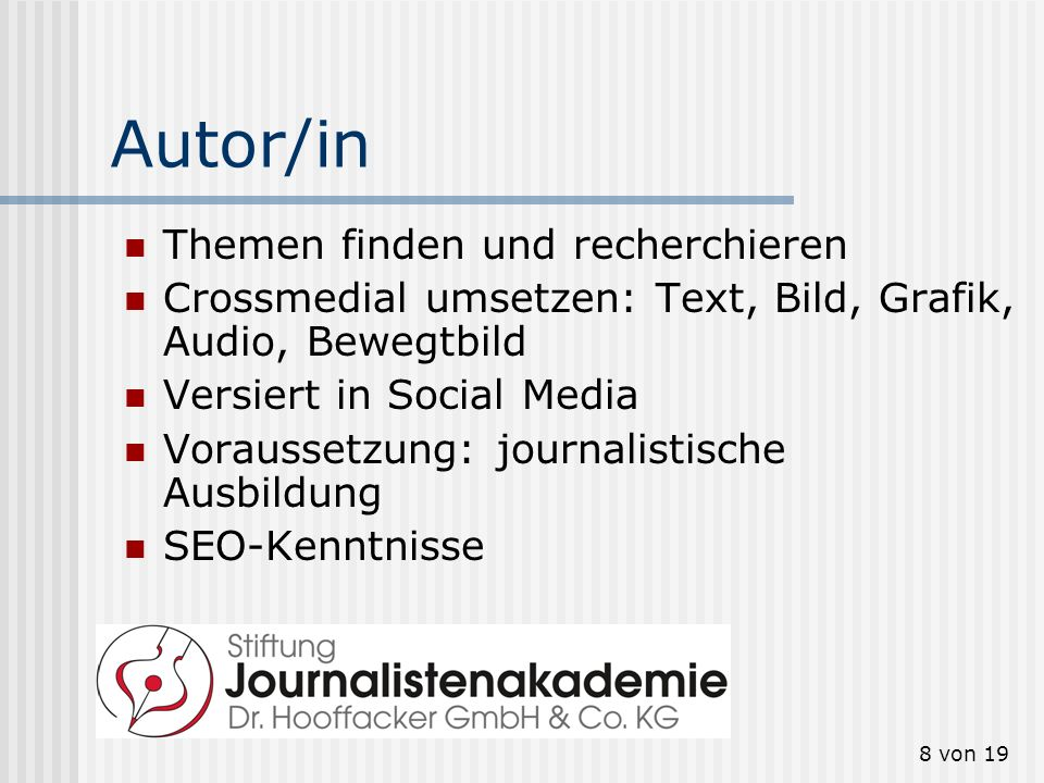 Autor/in Themen finden und recherchieren