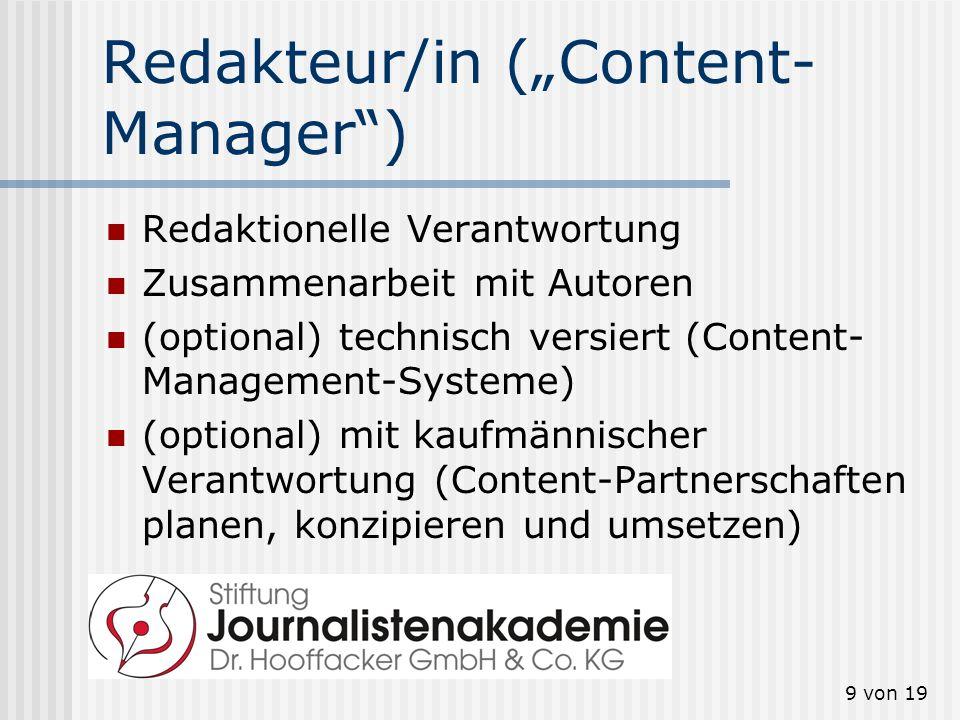 "Redakteur/in (""Content-Manager )"