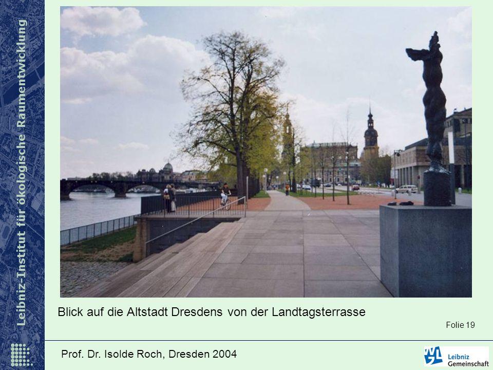 Blick auf die Altstadt Dresdens von der Landtagsterrasse