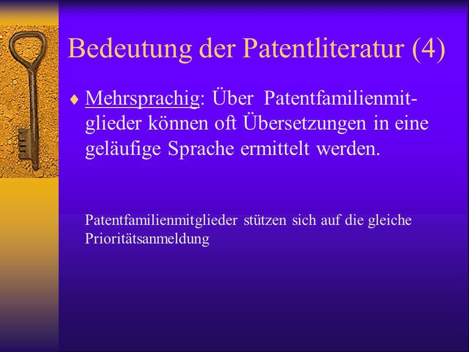 Bedeutung der Patentliteratur (4)