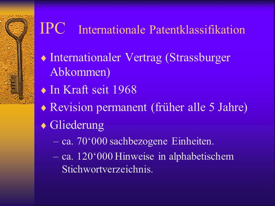 IPC Internationale Patentklassifikation