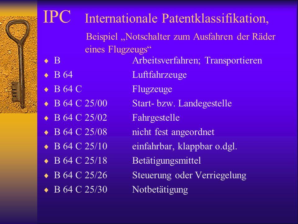 IPC Internationale Patentklassifikation,