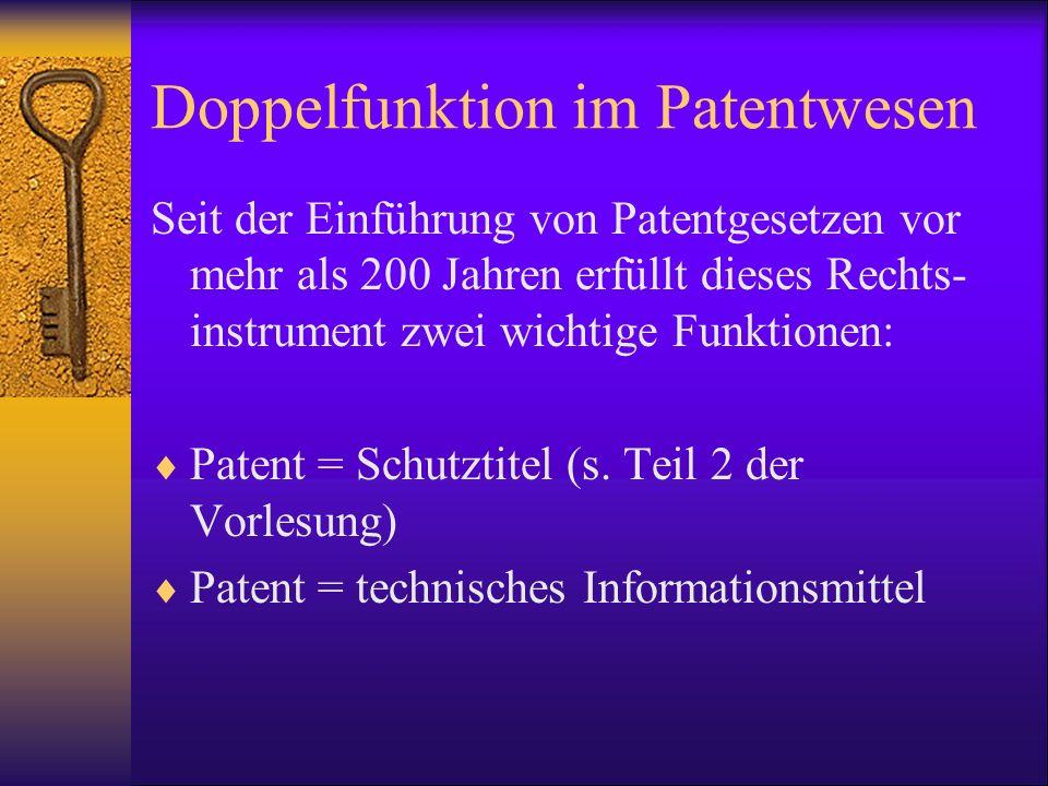 Doppelfunktion im Patentwesen