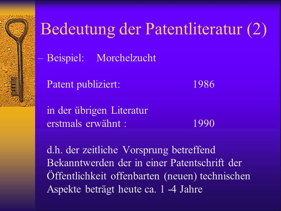 Bedeutung der Patentliteratur (2)
