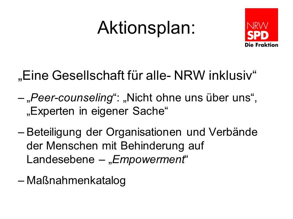 """Aktionsplan: """"Eine Gesellschaft für alle- NRW inklusiv"""