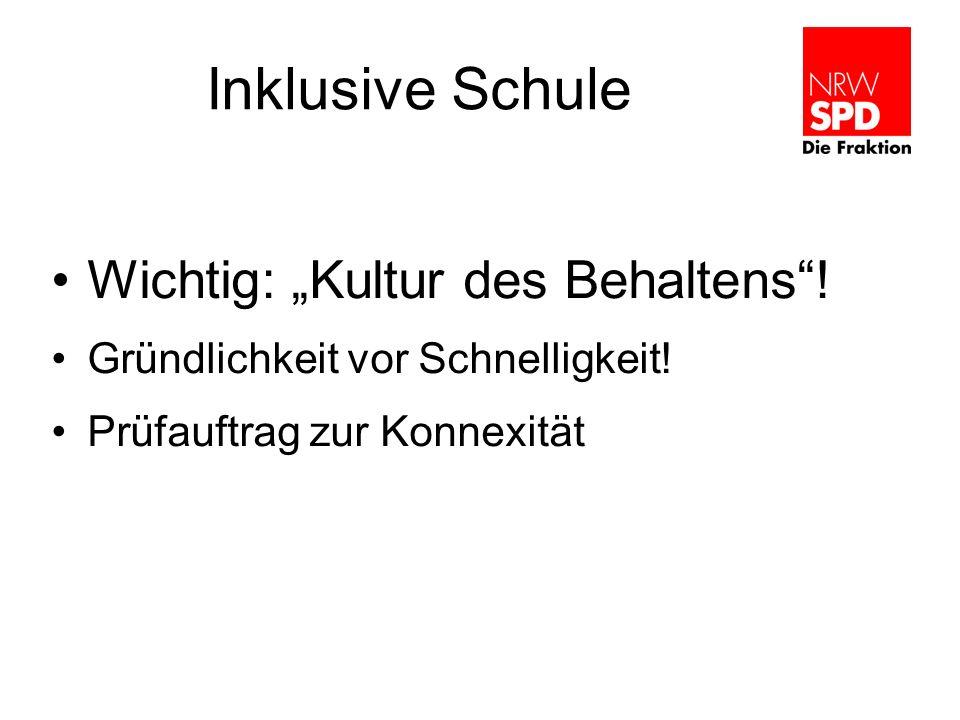 """Inklusive Schule Wichtig: """"Kultur des Behaltens !"""
