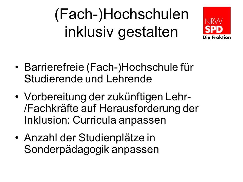 (Fach-)Hochschulen inklusiv gestalten