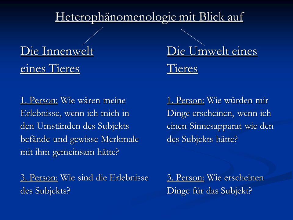 Heterophänomenologie mit Blick auf