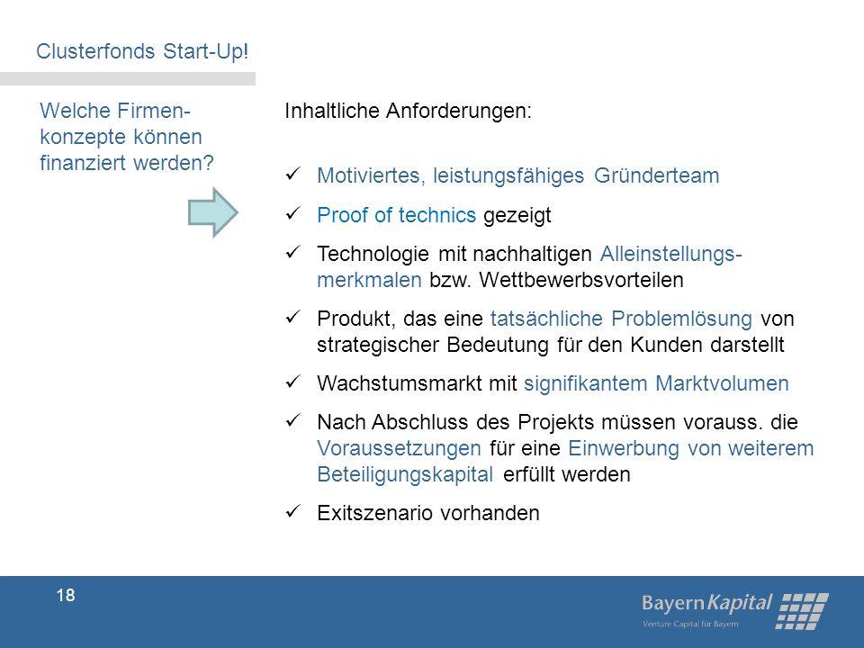 Clusterfonds Start-Up!