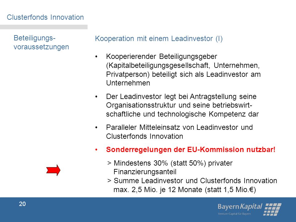 Clusterfonds Innovation