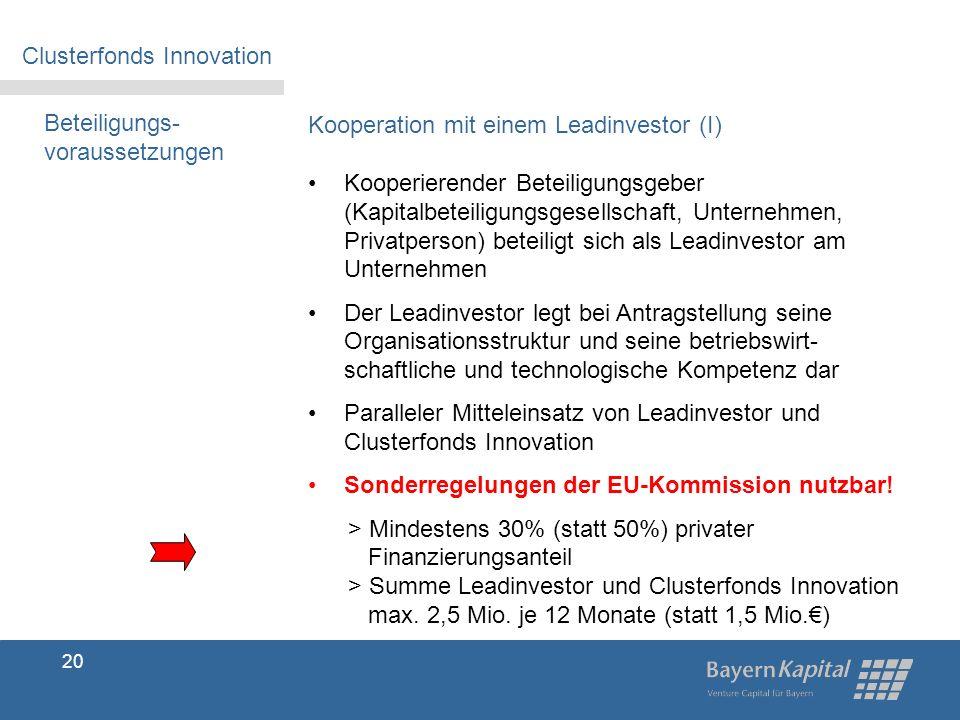 Clusterfonds Innovation