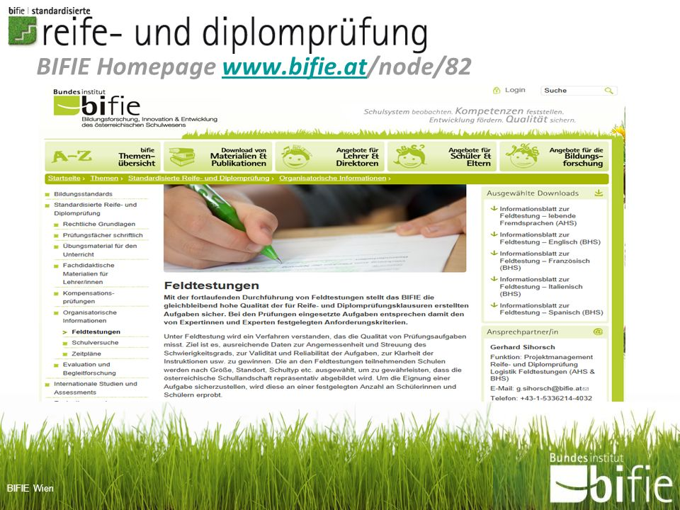 BIFIE Homepage www.bifie.at/node/82