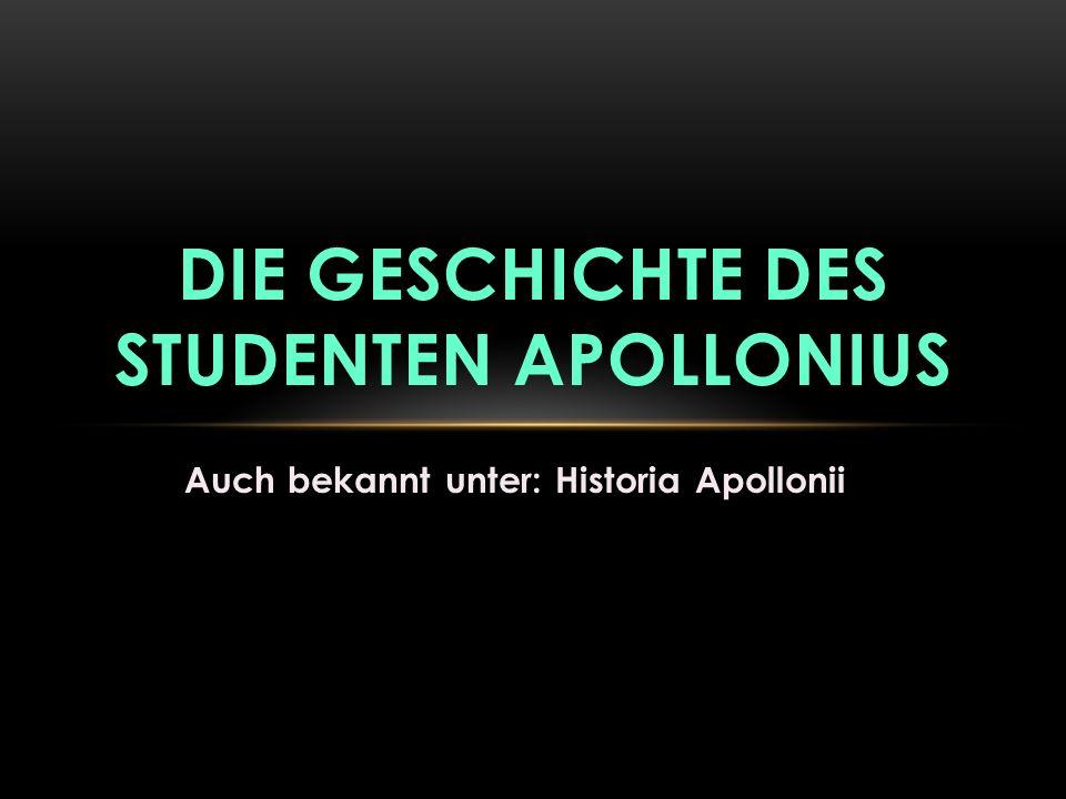 Die Geschichte des Studenten Apollonius
