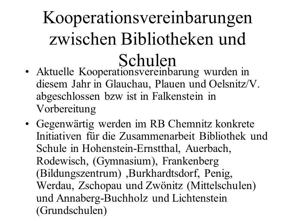 Kooperationsvereinbarungen zwischen Bibliotheken und Schulen