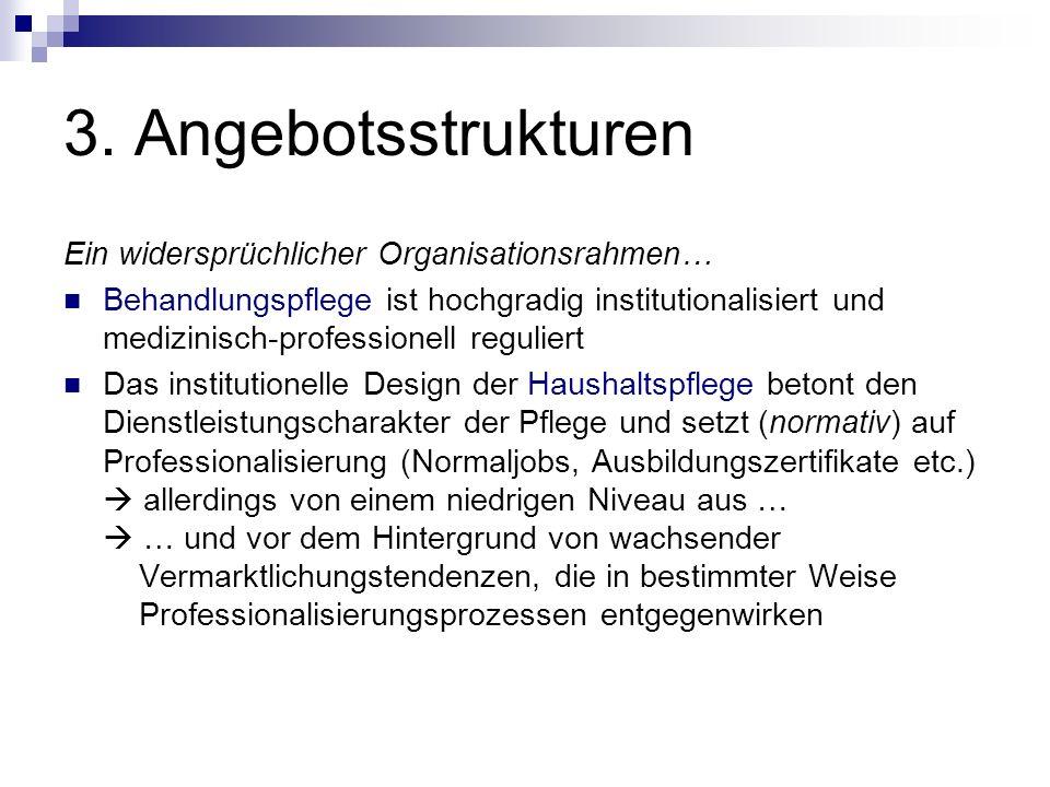 3. Angebotsstrukturen Ein widersprüchlicher Organisationsrahmen…