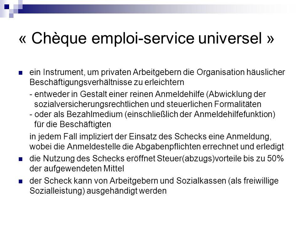 « Chèque emploi-service universel »