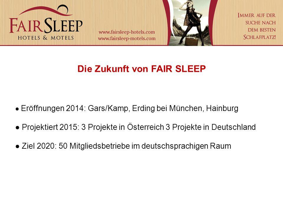 Die Zukunft von FAIR SLEEP