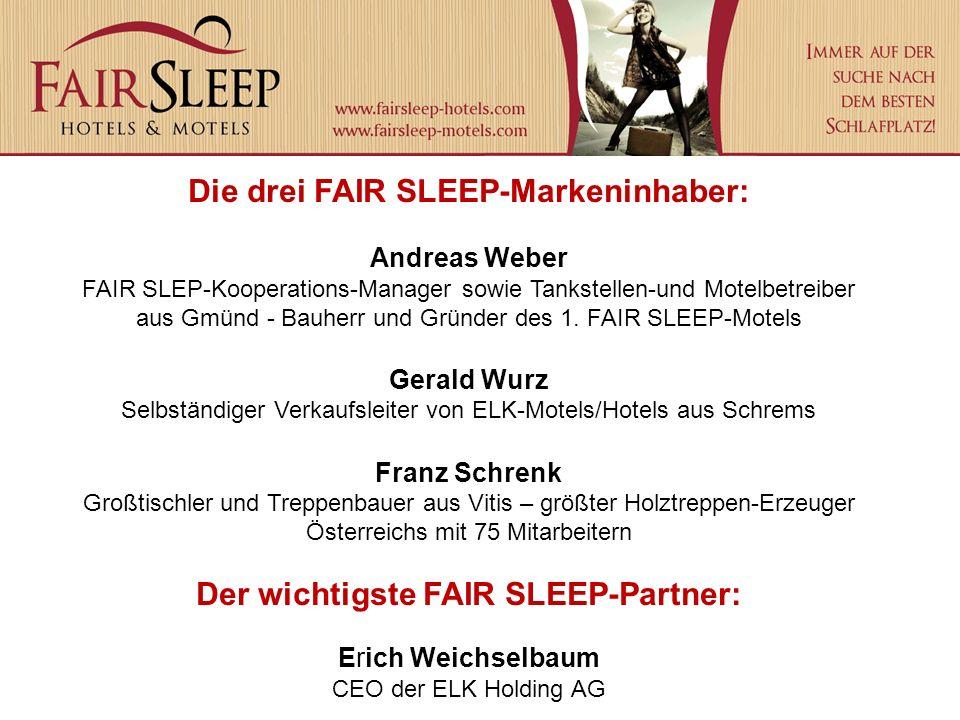 Die drei FAIR SLEEP-Markeninhaber: Andreas Weber FAIR SLEP-Kooperations-Manager sowie Tankstellen-und Motelbetreiber aus Gmünd - Bauherr und Gründer des 1.
