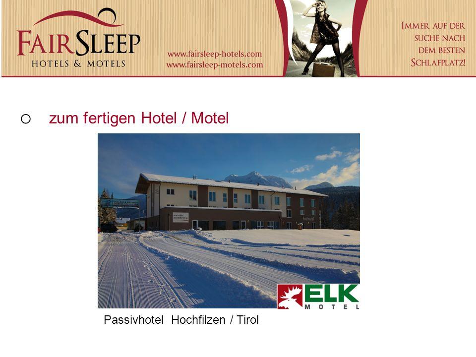 zum fertigen Hotel / Motel