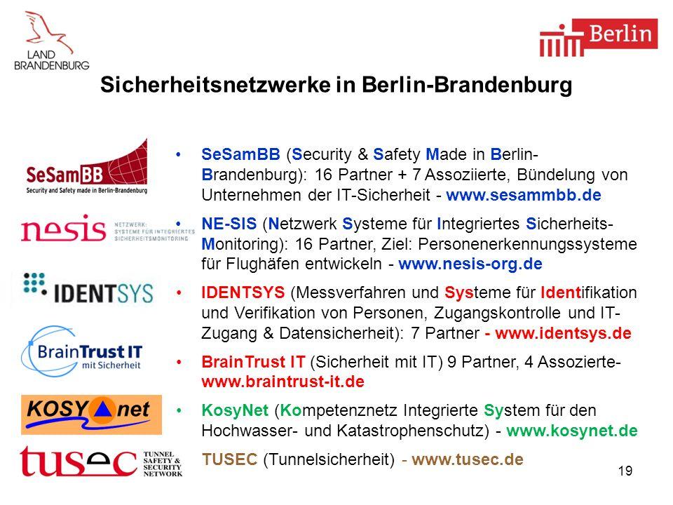Sicherheitsnetzwerke in Berlin-Brandenburg